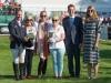 Oliver, Val Ryan, Angela Hislop & Karyn Shuter at prize giving, Burghley, 2018 © Trevor Holt