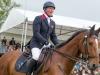Oliver rides a police horse in the Mitsubishi Badminton 2015 parade © Trevor Holt