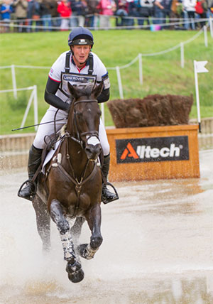 Oliver Townend (GBR) riding Black Tie Cross Country